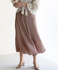 ヴィンテージサテンプリーツマキシスカート