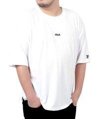 【別注】【FILA】フィラ 大きいサイズ ビッグシルエット ミニロゴ刺繍 半袖Tシャツ ユニセックス