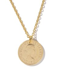 SIXPENCE COIN        NECKLACE GD