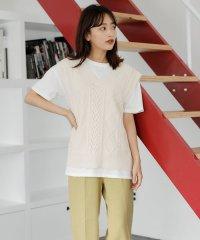 7G透かしニットベスト+TシャツSET