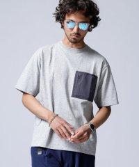 快適男 異素材ポケットTシャツ(一部WEB限定カラー)