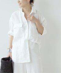 《予約》Linen 7ブソデシャツ◆