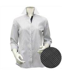 シャツ 七分袖 形態安定 スキッパー衿 綿100% レディース ウィメンズ