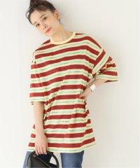 【DROLE DE MONSIEUR / ドロールドムッシュ】Vintage Striped Tee Lo:Tシャツ