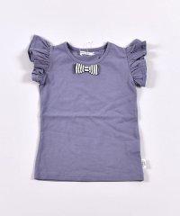 リボン袖フリルTシャツ(100cm~130cm)