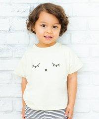 フェイスモチーフTシャツ(100~130cm)