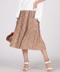 【WEB別注】花柄消しプリーツスカート