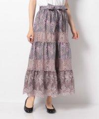 ペイズリー×花柄ロングスカート