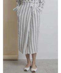 【セットアップ対応商品】ストライプアシメタイトスカート