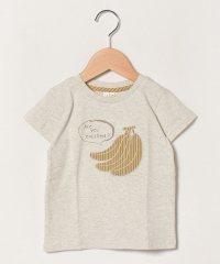 【lagom】バナナアップリケTシャツ
