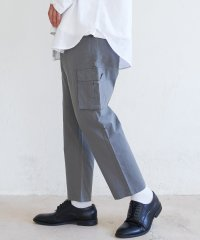 カーゴパンツ メンズ テーパード アンクル クロップド 8分 7分丈 ミリタリー ワーク シンプル キレイめ カジュアル ストレート 無地 Ressaca レサ
