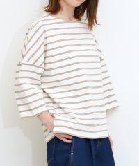 ドロップショルダーロングTシャツ七分袖