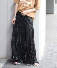【Deby debo/デビーデボ】ストライプロングスカート