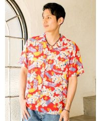 【Kahiko】アロアロMEN'Sアロハシャツ 4IA-0130