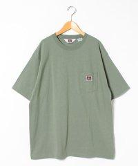 【BEN DAVIS】ベンデイビス 大きいサイズ 無地 ポケット 半袖Tシャツ ゆったり ユニセックス