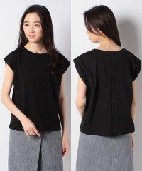 フレンチマチ付き後ろ釦Tシャツ