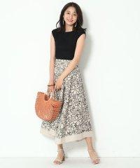 【Marisol6月号掲載】カットワーク刺繍リネンスカート