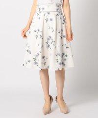花柄ウエストグログランスカート