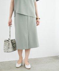 【セットアップ対応】センタースリットジョーゼットタイトスカート
