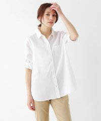 【M-LL/フレンチリネン】前あきベーシックシャツ