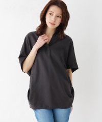 ◆【M-3L/フレンチリネン】ドルマンスリーブスキッパーシャツ