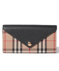 【Burberry】Vintage Check & Leather Continental Wallet