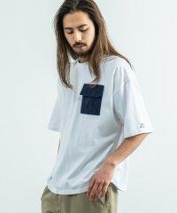 kappa カッパ Tシャツ メンズ レディース ブランドロゴ 白 半袖 オーバーサイズ ビッグシルエット ゆったり リラックス ルーズ ポケット クルーネック