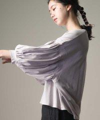 【OMNES】綿麻カット 袖ボリューム七分袖Tシャツ