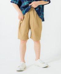 【コットンレーヨン】タックショートパンツ