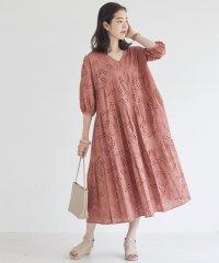 刺繍レースティアード羽織ワンピース