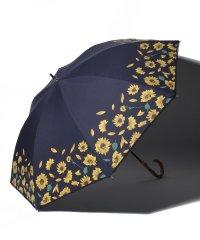 ひまわり柄晴雨兼用長傘 日傘
