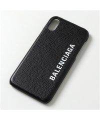 【BALENCIAGA(バレンシアガ)】585828 1IZD0 iPhoneX/XS専用ケース レザー スマホ スマートフォン カバー 1065/BLACK-