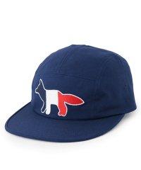 【MAISON KITSUNE(メゾンキツネ)】EU06101 WW0007 刺繍 ジェットキャップ 帽子 5パネル キャップ カラーNAVY