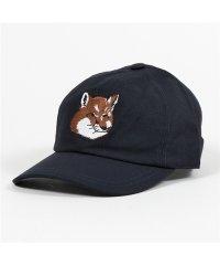 【MAISON KITSUNE(メゾンキツネ)】BU06111 EU06118 WW0007 FOX HEAD PATCH ベースボールキャップ 帽子 NAVY