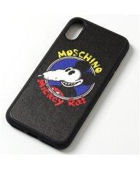 【MOSCHINO(モスキーノ)】A7974 8352 iPhoneX/XS専用ケース スマホ スマートフォン カバー 1555/ブラック レディース