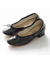 【PORSELLI(ポルセリ)】DE NAPPA イタリア製 バレエ ナッパレザー 3cmヒール バレエシューズ パンプス リボン ラウンドトゥ NERO 靴