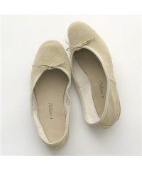 【PORSELLI(ポルセリ)】DS CAMOSCIO スエードレザー バレエシューズ フラットパンプス 靴 BEIGE レディース