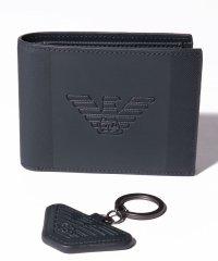 【メンズ】【EMPORIO ARMANI】Gift Box Wallet & Key Ring