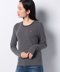 LS BABY TEE AGNES STRIPE FORGED IRON STR