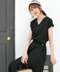 ★【MAGASEEK/dfashion別注】ウエストベルト付カットソーワンピース