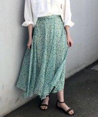 花柄パネルヘムスカート
