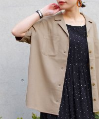 【2020新作】綿麻 オープンカラー オーバーサイズシャツ fi SS