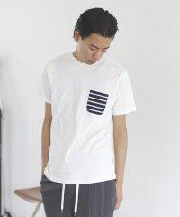 BEAMS / 天竺 ボーダーポケット クルーネック Tシャツ