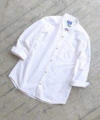 BEAMS / オックス トリコ釦 7分袖シャツ