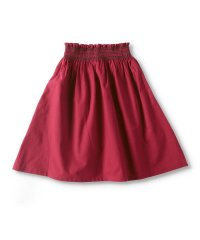 シャーリング刺繍スカート