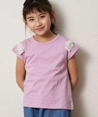 [100-130]ショルダーリボン半袖Tシャツ[WEB限定サイズ]