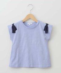 [140-150]ショルダーリボン半袖Tシャツ