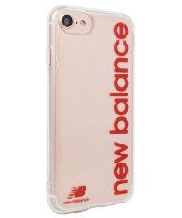 iPhone SE(第2世代)/8/7/6s/6 New Balance [TPUクリアケース/縦ロゴ/レッド]