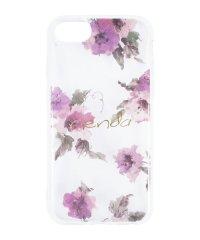 iPhone SE(第2世代)/8/7/6s/6 rienda[TPUクリア/Parm Flower]インモールドケース