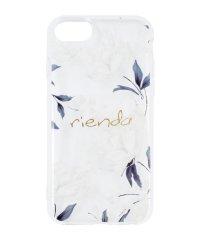 iPhone SE(第2世代)/8/7/6s/6 rienda[TPUクリア/Grace Flower]インモールドケース